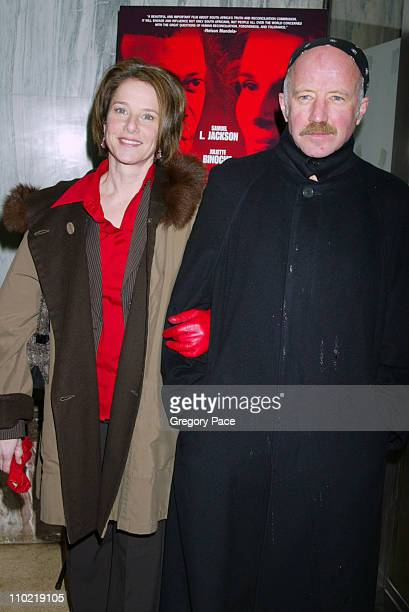 Debra Winger and Arliss Howard during 'In My Country' New York City Premiere Inside Arrivals at Beekman Theatre in New York City New York United...