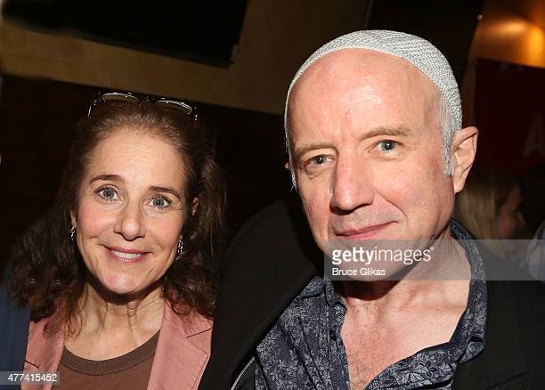 Debra Winger and Arliss Howard pose at the Opening Night After Party for David Mamet's 'Ghost Stories The Shawl and Prarie Du Chien' at Jake's Saloon...