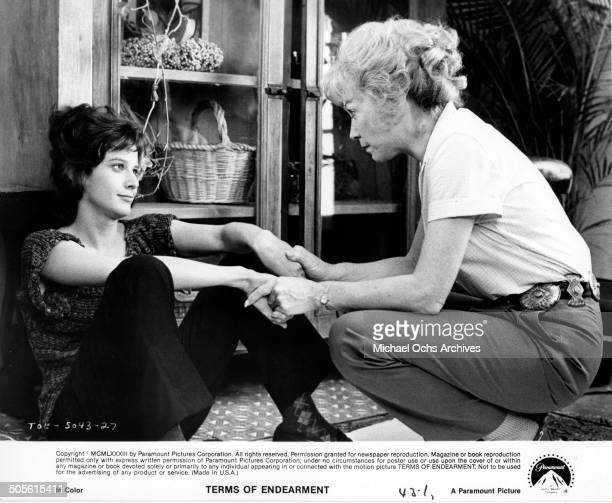 Debra Winger and Shirley MacLaine share a motherdaughter moment in a scene from the Paramount Pictures movie 'Terms of Endearment' circa 1983