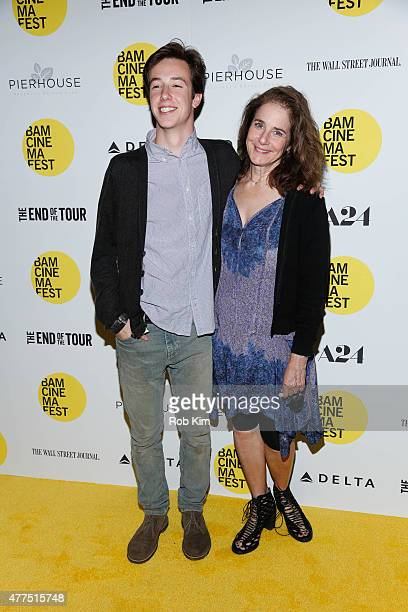 Debra Winger and son Gideon Babe Ruth Howard attend BAMcinemaFest 2015 The End Of The Tour opening night screening at BAM Howard Gilman Opera House...
