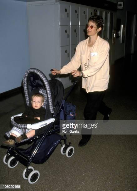Debra Winger and Son Gideon Howard during Debra Winger and Son Gideon at Los Angeles International Airport at Los Angeles International Airport in...