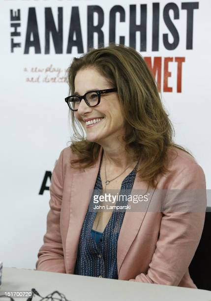 Debra Winger attends the The Anarchist cast photo call at Davenport Studios on September 10 2012 in New York City