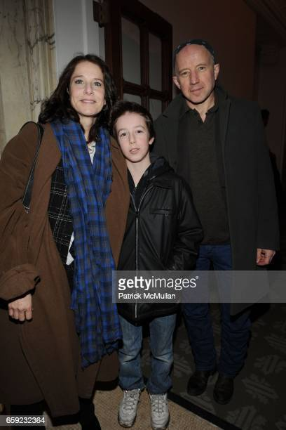 Debra Winger Gideon Babe Winger Howard and Arliss Howard attend SUPER BOWL Party at The Oak Room on February 1 2009 in New York City