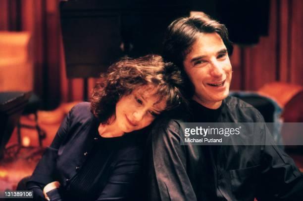 Debra Winger, Michael Tilson Thomas, portrait, Royal Festival Hall, London, 1994.