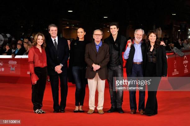 Debra Winger Pierre Thoretton Carmen Chaplin Ennio Morricone Roberto Bolle Susanne Bier and David Puttnam of the International Jury attends a...