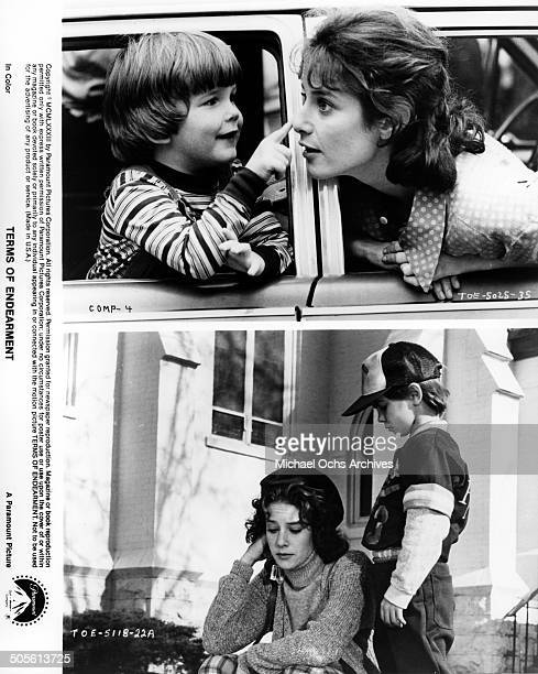 Debra Winger shares a scene with Shane Serwin in a scene from the Paramount Pictures movie'Terms of Endearment' circa 1983