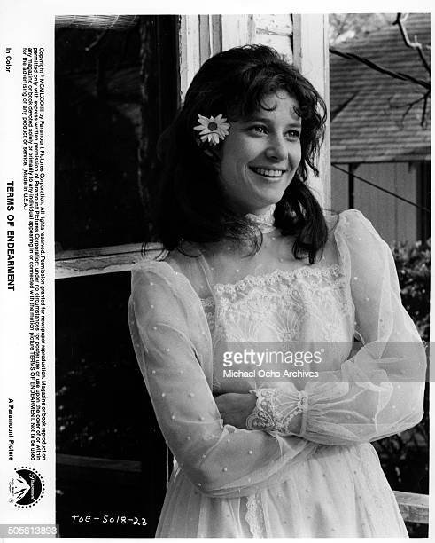 Debra Winger smiles after getting married in a scene from the Paramount Pictures movie'Terms of Endearment' circa 1983