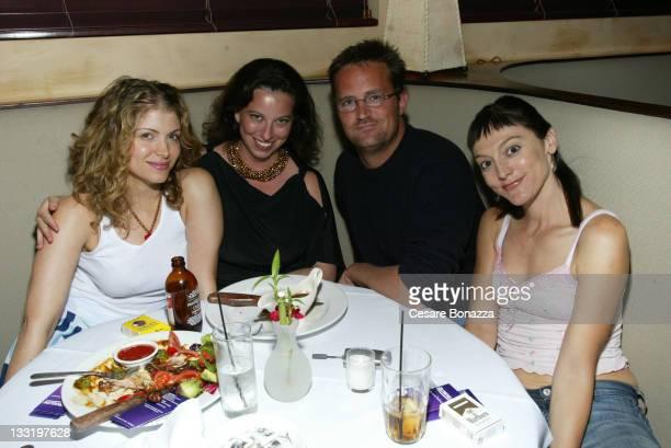 Debrah Rudlen, Lizzy Freeman, Matthew Perry, Nancy Pimental at AAAW Party