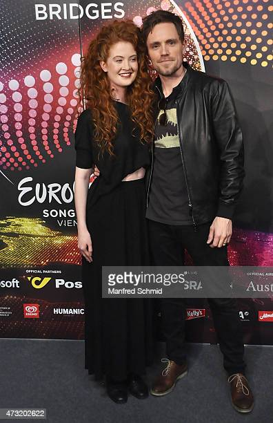 Debrah Scarlett and Kjetil Morland who will represent Norway at '2015 Eurovision Festival' pose at a press meet and greet ahead of the Eurovision...
