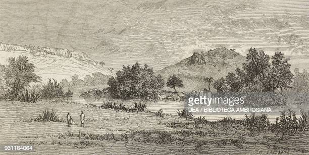 Debre Berhan Ethiopia from Narrative of a Journey through Abyssinia by Guillaume Lejean drawing by Eugene Ciceri from Il Giro del mondo Journal of...