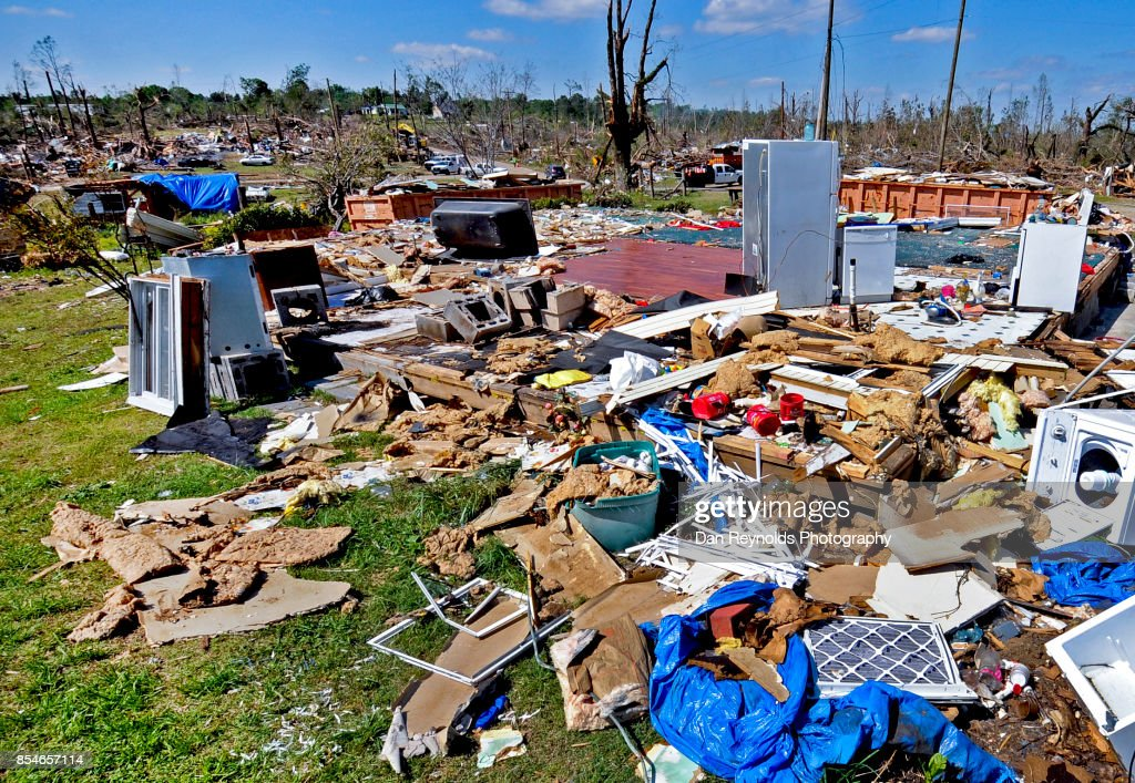 Debris after tornado : Stock Photo