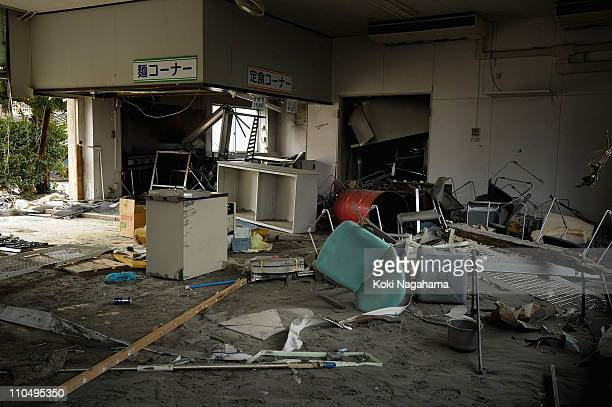 Debris are scattered at Kashima Port Waiting Room on March 20, 2011 in Kashima, Ibaraki, Japan. The 9.0 magnitude strong earthquake struck offshore...