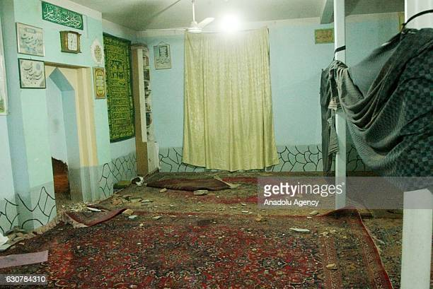 Debris are seen after a bombing attack at a mosque in Herat Afghanistan on January 2 2017