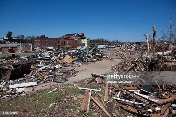 Debris covers the ground in the Albert City area on April 29, 2011 in Tuscaloosa, Alabama. The tornado that touched down in Tuscaloosa is estimated...