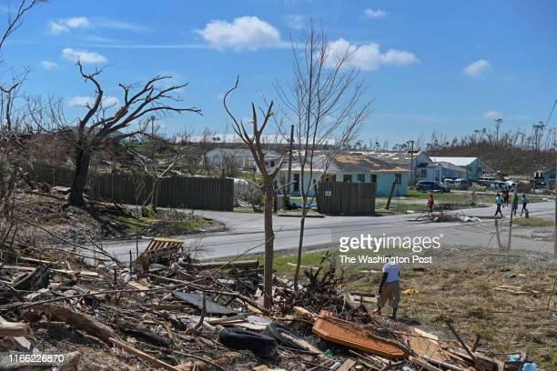 HARBOUR BAHAMAS SEPTEMBER Debris from Hurricane Dorrian covers a neighborhood in Marsh Harbour Bahamas on Thursday Sept 5 2019 Hurricane Dorian made...