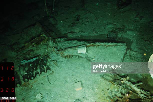 debris from titanic - titanic stock pictures, royalty-free photos & images