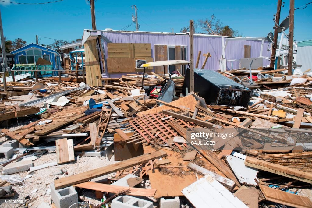 Debris from trailer homes destroyed by Hurricane Irma litters the Seabreeze Trailer Park in Islamorada, in the Florida Keys, September 12, 2017. /