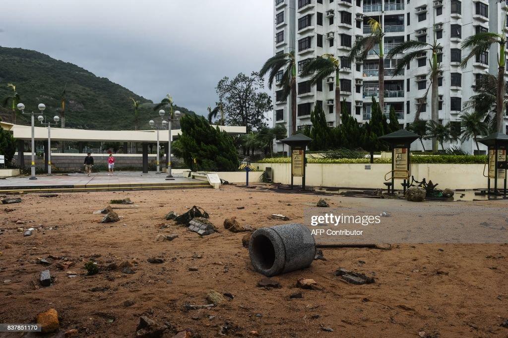 HONG-KONG-WEATHER-TYPHOON : News Photo