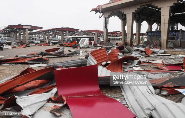 Debris litters the floor at a bus stand in Puri on May 5 after Cyclone Fani swept through the area Cyclone Fani one of the biggest to hit India in...