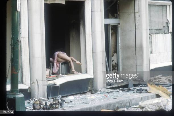 Debris surrounds a broken mannequin September 20 1985 in Mexico City Mexico An earthquake registering 81 on the Richter scale hit central Mexico on...