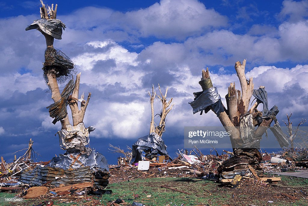 CONTENT] Debris wrapped around debarked trees at around 2219 Indiana Ave in Joplin, Missouri, May 25, 2011. This was shot across the street from the destroyed Joplin High School. On May 22, 2011, Joplin Missouri was devastated by an EF-5 tornado. Shot on film (Fuji Velvia).