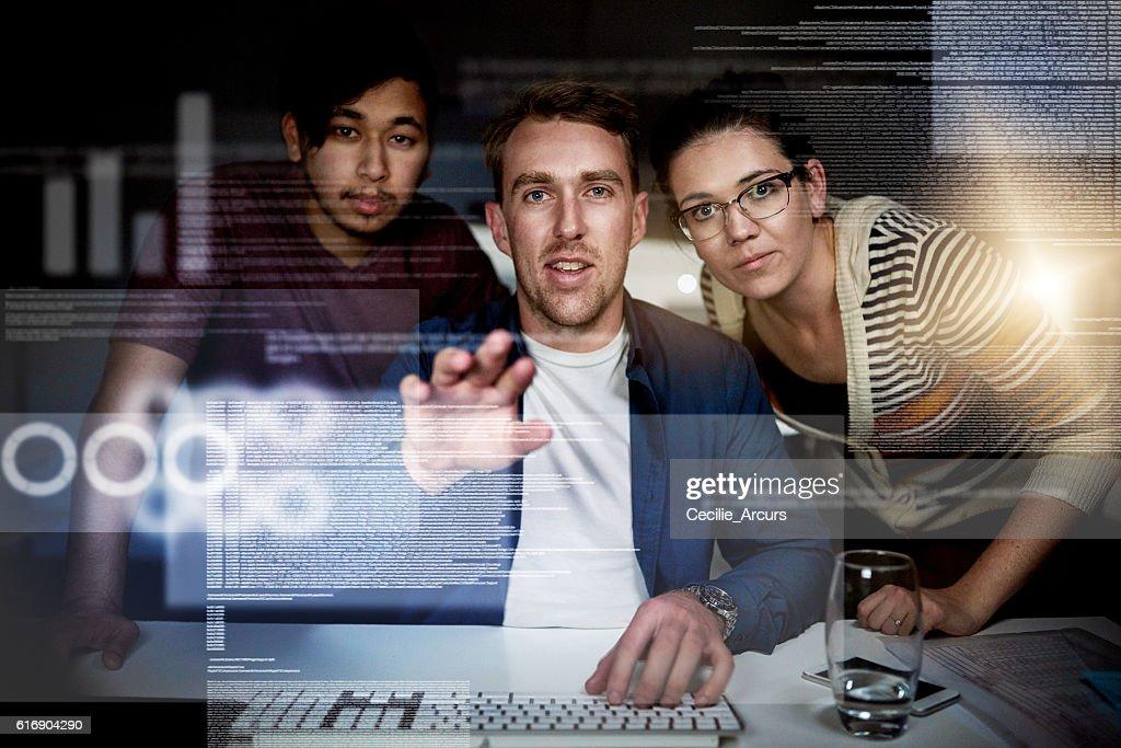 Debuggen ein paar Zeilen der code : Stock-Foto