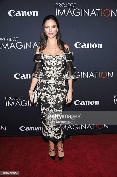 Debut filmmaker Georgina Chapman attends Canon's 'Project Imaginat10n' Film Festival opening night at Alice Tully Hall at Lincoln Center on October...