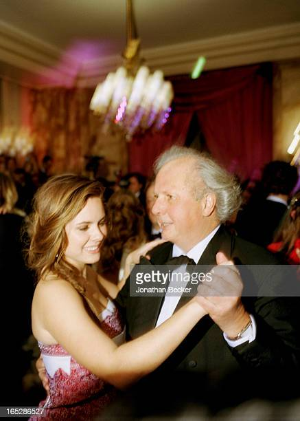 Debutante Bronwen Carter and father editor of Vanity Fair Graydon Carter are photographed at the Crillon Debutante Ball for Vanity Fair Magazine on...
