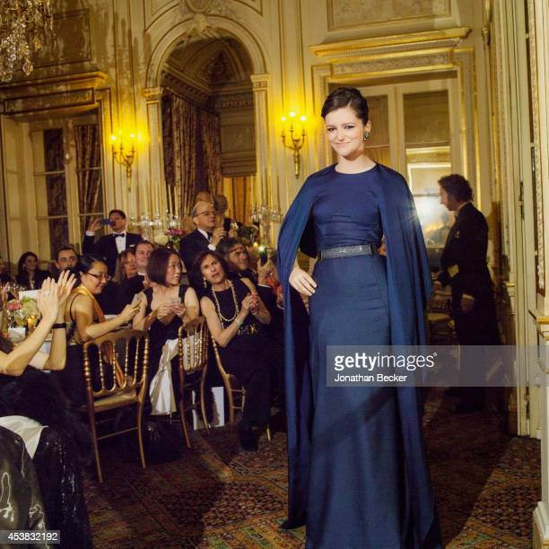 Debutante Leonora Gilmour is photographed for Vanity Fair Magazine on November 29 2013 at the Automobile Club de France in Paris France PUBLISHED...