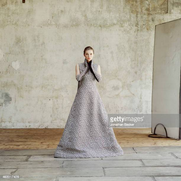 Debutante Zita d'Hauteville is photographed at a fashion shoot for Town Country Magazine on July 13 2013 in Paris France PUBLISHED IMAGE