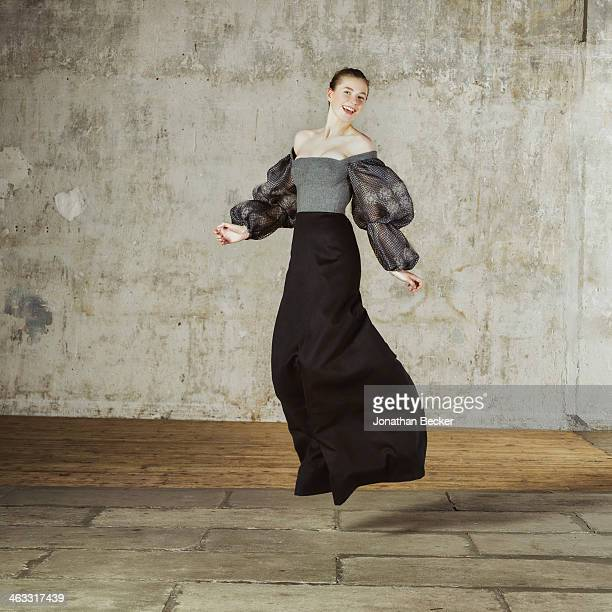 Debutante Zita d'Hauteville is photographed at a fashion shoot for Town Country Magazine on July 13 2013 in Paris France
