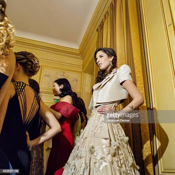 Debutante Zoe Springer is photographed for Vanity Fair Magazine on November 29, 2013 at the Automobile Club de France in Paris, France. PUBLISHED...