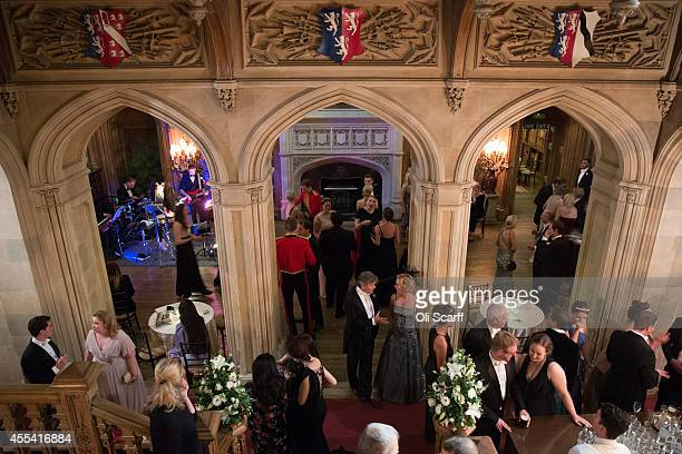 Debutantes and guests dance following their meal at the Queen Charlotte's Ball at Highclere Castle on September 13 2014 near Newbury England Queen...