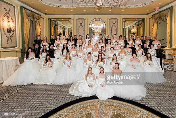 Debutantes and their escorts during the 62th International Debutante Ball at The Pierre Hotel on December 29 2016 in New York City