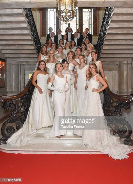 Debutantes ahead of the 240th Anniversary Queen Charlotte's Ball which took place at Dartmouth House on September 8 2018 in London England This...