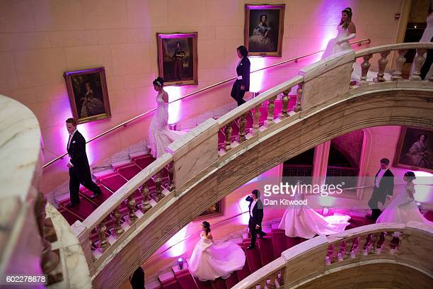Debutantes and their escorts rehearse ahead of the Queen Charlotte's Ball at 'One Whitehall Place The Royal Horseguards Hotel' on September 10 2016...