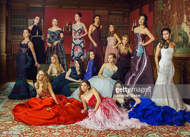 Debutantes are photographed for Vanity Fair Magazine on November 28 2014 at the 2014 Bal des Debutantes at the Palais de Chaillot in Paris France...