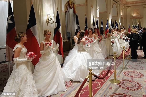 Debutantes attend the 60th International Debutante Ball at The Waldorf=Astoria on December 29 2014 in New York City