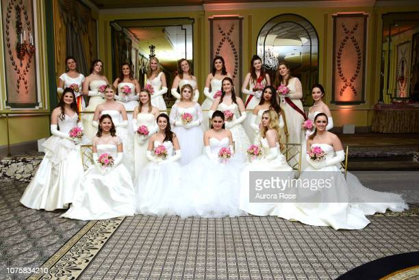 Debutantes attend The International Debutante Ball at The Pierre Hotel on December 29, 2018 in New York City.