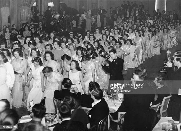 Debutantes 'come out' at the Queen Charlotte Ball held at Grosvenor House London April 1946