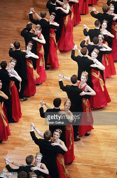 Debutantes dance at the 2nd annual Semper Opera Ball January 19 2007 in Dresden Germany