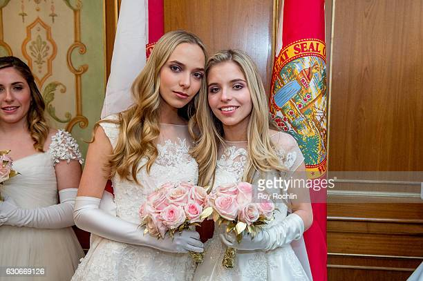Debutantes during the 62th International Debutante Ball at The Pierre Hotel on December 29 2016 in New York City