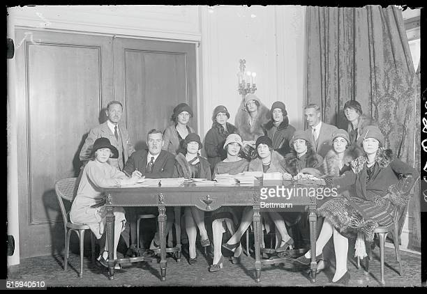 Debutantes meet for British War Veterans grand Ball New York Above is shown the group of society debutantes who gathered at the Candainclub in the...