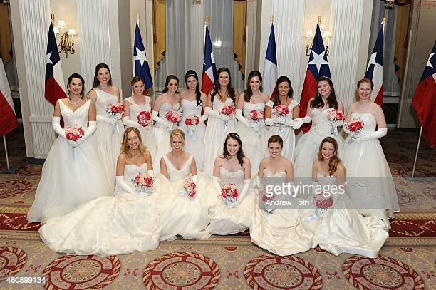 Debutantes pose for a photo during the 60th International Debutante Ball at The Waldorf=Astoria on December 29, 2014 in New York City.