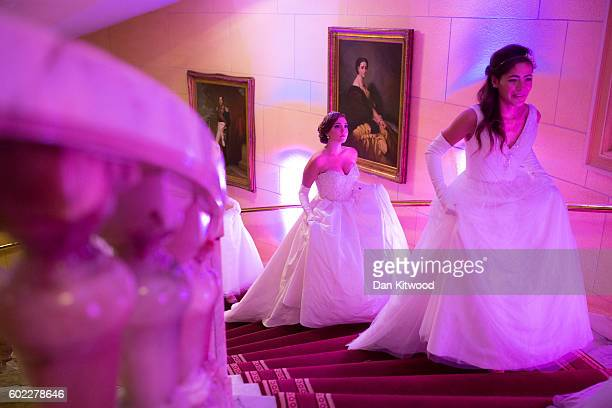 Debutantes rehearse ahead of the Queen Charlotte's Ball at 'One Whitehall Place The Royal Horseguards Hotel' on September 10 2016 in London England...