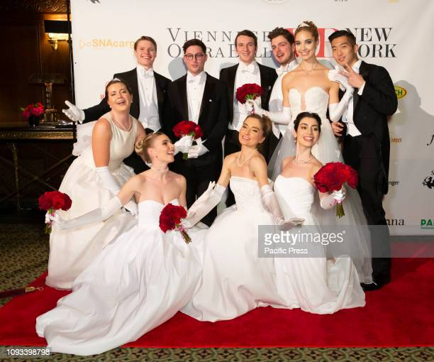 Debutants and escorts attend New York 64th Viennese Opera Ball at Cipriani 42nd street