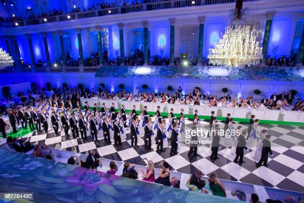 Debutants during the opening of Fete Imperiale 2018 on June 29, 2018 in Vienna, Austria.