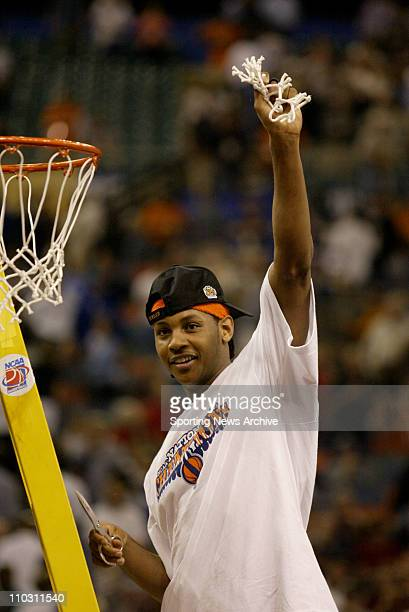 Dec 05 2007 New Orleans Louisianna USA Syracuse CARMELO ANTHONY against Kansas during the championship game of the NCAA Final Four at the Superdome...