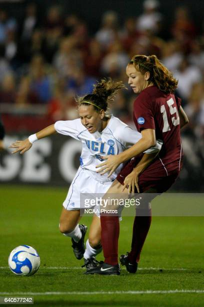 UCLA's Lauren Cheney dribbles the ball around USC's Janessa Courier during the semifinals of the 2007 NCAA Photos via Getty Images Division I Women's...