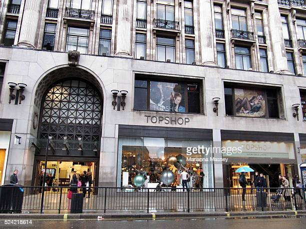 """Dec 09, 2009 - London, England, United Kingdom - The popular high street clothing store TopShop at Oxford Circus in London."